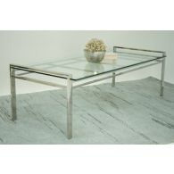 Mitchell Gold Emilio Cocktail Table with Clear Glass Top