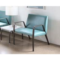 Aqua Waiting Room/Bariatric Chair W/Bronze Finish