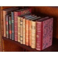 Set of 12 Antique Leather Bound Books