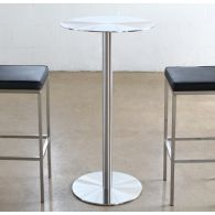 Brushed Stainless Steel Round Bar Table