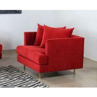 Lexy Chair In Sangria Velvet