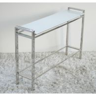 Mitchell Gold Emilio Console with White Glass Top