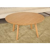 Modern Bamboo Round Coffee Table