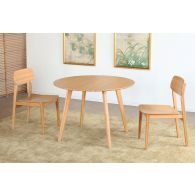 Modern Bamboo Round Dining Table