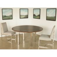 """Mitchell Gold Classic Parsons 60"""" Round Dining Table"""