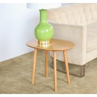 Modern Bamboo Oval End Table
