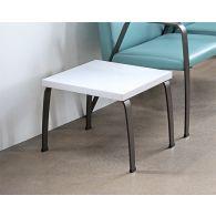 White End Table With Bronze Legs