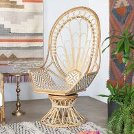 South Seas Rattan Swivel Peacock Chair