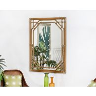 Rattan Framed Wall Mirror