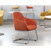 Mid-Century Style Burnt Orange Office Arm Chair
