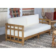 South Seas Square Framed Rattan Sofa