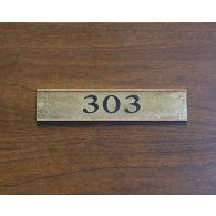 Door Tag Number 303