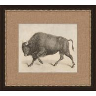 Antique Bull 19.5W x 17.5H