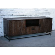 Rough-Hewn Plasma TV Console