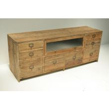 Reclaimed Bleached Pine Media Console