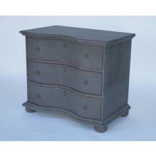 Distressed Green Chest of Drawers or Bedside Cabinet