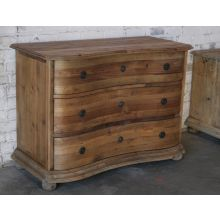 Bleached Pine 3-Drawer Chest
