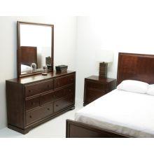 Warm Transitional Cherry Dresser with Mirror