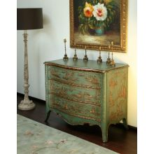 Green Chinoiserie Chest Of Drawers