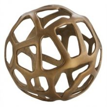 Small Aluminum Web Sphere - Cleared Décor