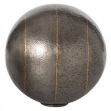 Large Hammered Iron Sphere - Cleared Décor