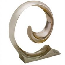 Curled Polished Nickel Figure - Cleared Décor