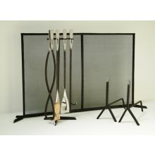 Forged Steel Wide Fireplace Screen
