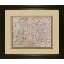 Sepia Map of New York 26W x 22H