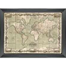 Oversized World Map 80W x 60H