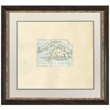 Vintage Martha's Vineyard Map 25.5W x 23.5H