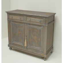 Lavender Gray Antique French Sideboard