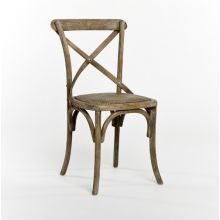 Limed Gray Oak French Cafe Chair