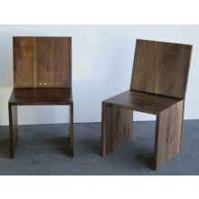 Walnut Side Chair with Two Round Holes