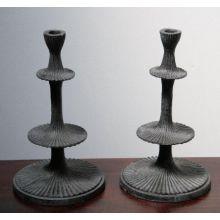 Pair of Collins Iron Candlesticks