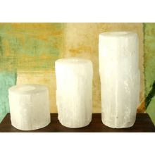 Set of 3 Selenite Tealight Towers