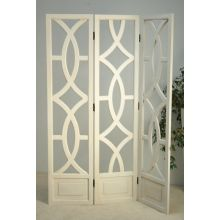 White Cut Out Hollywood Regency Style Screen