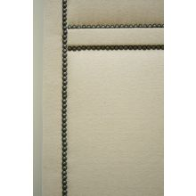 Cream 3-Panel Screen with Small Pewter Nails