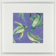 Vivid Koi Fish II 21W x 21H