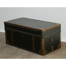Black Leather and Brass Trunk