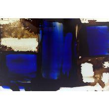 Cobalt Brushstrokes II  60W X 40H