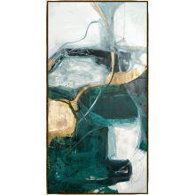 Bloquer Green, Blue, Gold III 32W x 62H