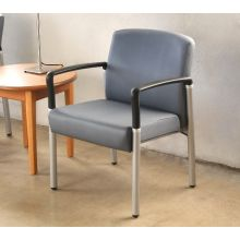 Gray Upholstered Waiting Room Chair