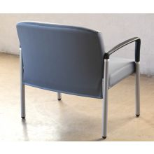Gray Upholstered Bariatric Waiting Room Chair