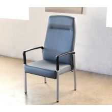 Gray Upholstered High Back Patient Chair
