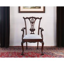 Claw and Ball Foot Mahogany Dining Room Arm Chair