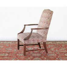 Brick Red Flame Stitch Armchair, Circa 1970