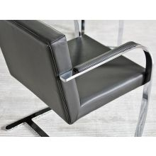 Brno Style Arm Chair in Gray Leather