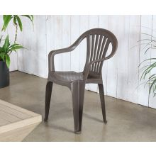 Brown Plastic Cafe Or Patio Chair