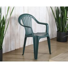 Green Plastic Cafe Or Patio Chair