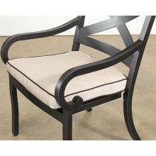 Black Metal Patio Arm Chair